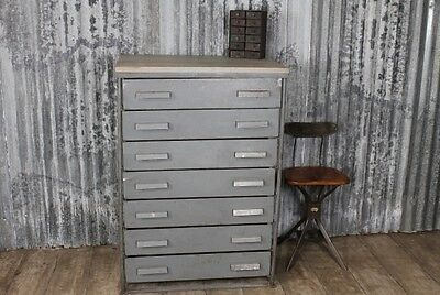 Vintage Industrial Original Chest Of Drawers Storage Chest Cabinet