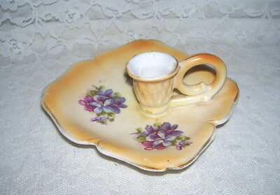 Antique Violets Candle Holder Austria