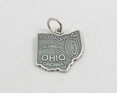 STATE of OHIO Sterling Silver Charm -1017
