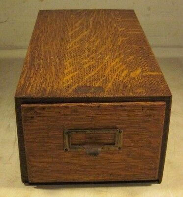 Antique Early 1900's Goldsmith Bros Filing Devices Single Cabinet Oak New York