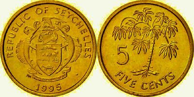 Seychelles 1995 5 Cents Uncirculated (KM47.2)