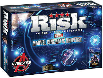 New Hasbro Usaopoly Risk Marvel Cinematic Universe Board Games 046833