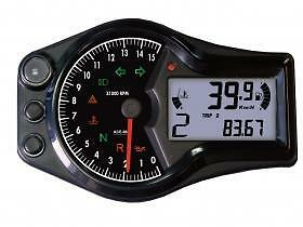 Acewell 6653 Universal Motorcycle Speedometer Gauge Computer Km/h Or Mph Display
