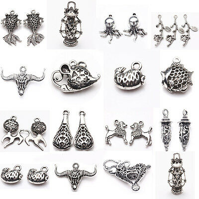 Wholesale New Bulk Lots Tibetan Silver Mixed Pendants Charms Crafts DIY Findings