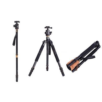 Pro Alloy Heavy Duty Tripod Monopod With 360°Ball Head for DSLR Camera Camcorder