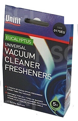 Unifit Eucalyptus Vacuum Cleaner Fresheners For Bag And Bagless Hoovers 0175EU