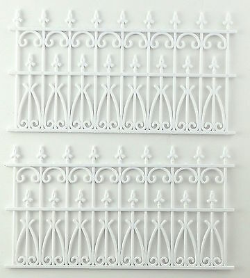 Dolls House White Victorian Railings Fence Miniature Outdoor Fixture Accessory