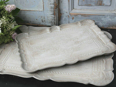 CHIC ANTIQUE, Florentiner Tablett, Tray, Sand antikisiert, Shabby, Brocante,