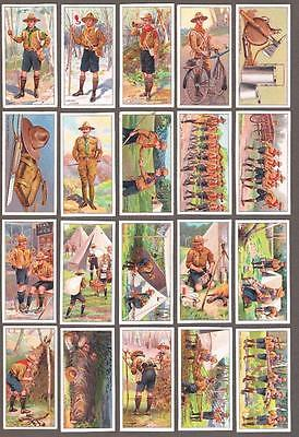 1911 ITC C47 Boy Scouts Tobacco Cards Near Set of 49/50