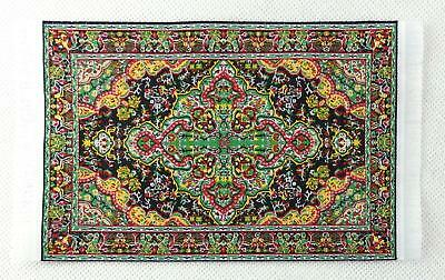 Dolls House Small Turkish Woven Fireside Rug Carpet Miniature 1:12 Accessory MD
