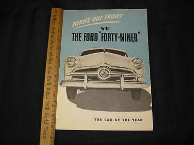 1949 Ford Forty-Niner Folder Sales Brochure (CDN)