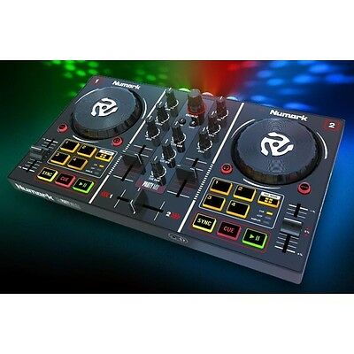 Numark Party Mix 2-Channel DJ Controller with Built-in Light Show inc Software