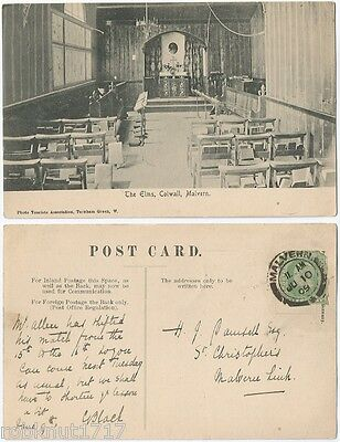 CPA postcard interior School The Elms COLWALL Herefordshire → Malvern [722 R]