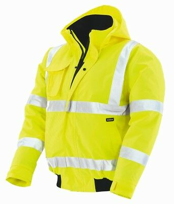 "Warning Protection Pilot Jacket "" Whistler "", Fluorescent Yellow"