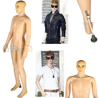 Natural Copmplexion Full Body Mannequin Male Man Dummy Window Clothes Display UK