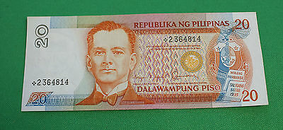Philippines 20 Piso P170b replacement note star about AU