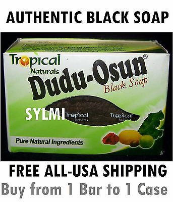 DUDU OSUN AFRICAN BLACK SOAP Tropical Natural Herbal Raw 1 6 8 12 24 36 48 Bars