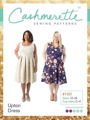 Cashmerette Ladies Plus Size Easy Sewing Pattern Upton Dress (CPP1101)