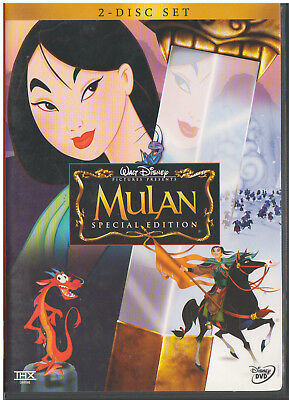 MULAN (DVD, 2004, 2-Disc Set, Special Edition) INCLUDES INSERT