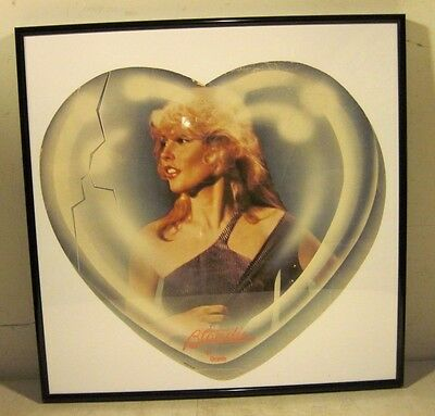 Vintage Framed Deborah Harry Of Blondie Heart Of Glass Cardboard Advertisement