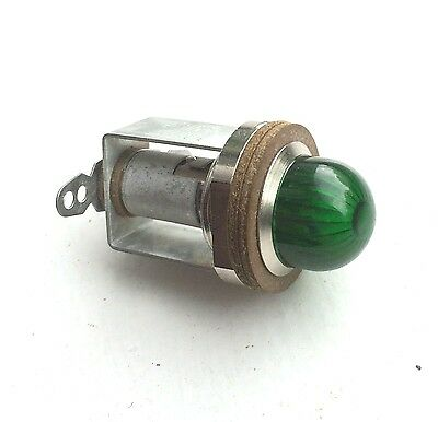 HARLEY VINTAGE OLD GREEN PILOT LAMP INDICATOR LIGHT  RARE NOS old stock
