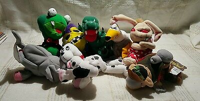 Meanies plush toys lot of 8 w/tags.