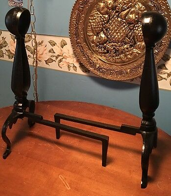 10 Lb Solid Black Cast Iron Fireplace Wood Holder NEW Two Pc.