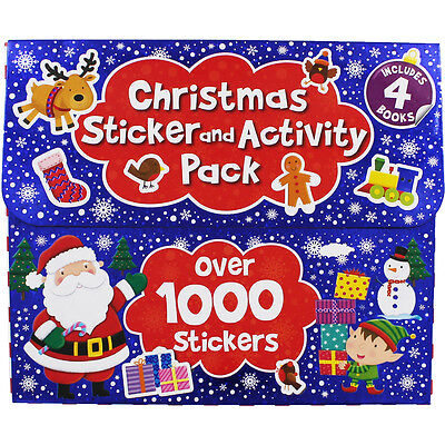 Christmas Sticker and Activity Pack - 4 Books (Paperback), Children's Books, New