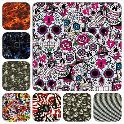 8 Types PVA Dipping Hydrographics Water Transfer Printing Skulls Sticker Film