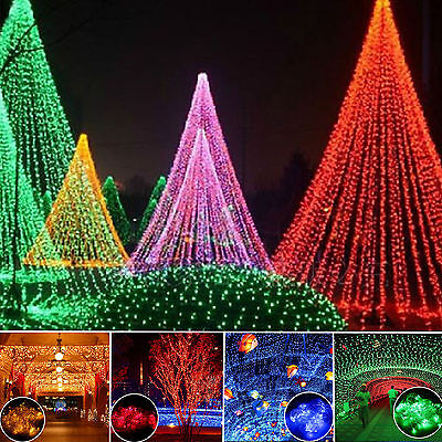 LED Net Light Fairy Party Wedding Christmas Hollween String Lights Outdoor Decor