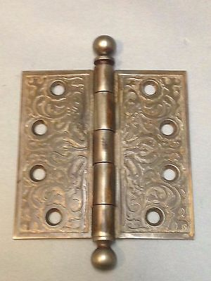 Antique Vintage Cast Iron Victorian 4X4 Inch Door Hinge Part
