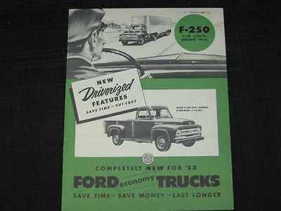 1953 Ford Trucks F-250 Series Sales Brochure CDN