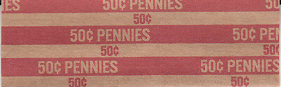 100 One Cent Flat Penny Coin Wrappers That Hold 50 Pennies Each