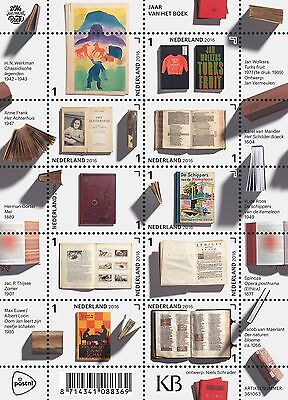 Netherlands 2016  jr of the book  ANNE FRANK, BUTTERFLY, CHESS  sheetlet    mnh