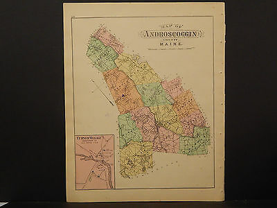 Maine, Antique Maps, 1899 Androscoggin County N3#48