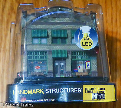 Woodland Scenics #4943 (Building) Dugan's Paint Store (Built UP) Ready (N Scale)