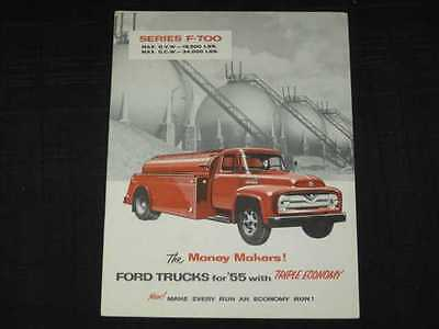 1955 Ford Trucks - F-700 Series Catalog Sales Brochure