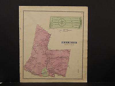New York, Herkimer County Map, 1868 Town of Herkimer P3#08