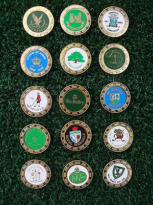 Set of 15 x Collectable Metal Golf Ball Markers - Britain's Famous Golf Courses
