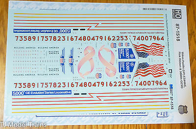 Microscale Decal HO #87-1518 Union Pacific (UP) ES44AC Pink Ribbon & 5000th GEVO