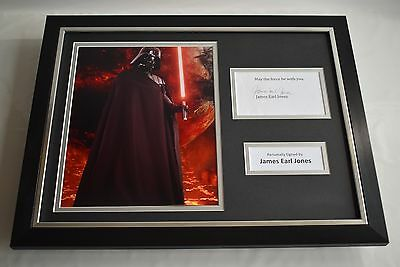 James Earl Jones SIGNED FRAMED Photo Autograph 16x12 display Star Wars Film COA