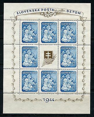 Slovakia Scott# B27 Sheet  Mint Never Hinged
