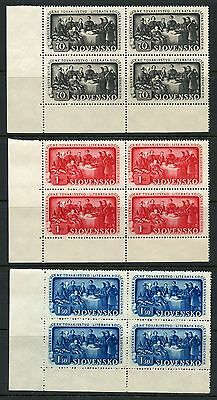 Slovakia Scott#77/82   Set Of Blocks  Mint Never Hinged
