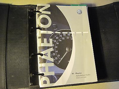 """2004 Vw Volkswagen Phaeton Owners Manual And Case """"fast Free U.s. Shipping"""""""
