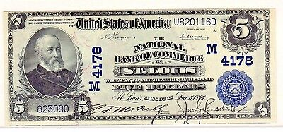 Fr. 601 1902 PB $5 Charter #4178 National Bank Note US Currency Paper Money Bill