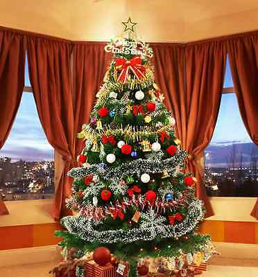 Artificial Lights Bling Christmas Tree With All Colorful Decoration 150CM Happy