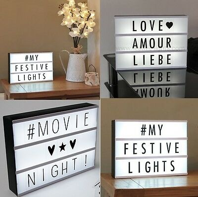 Light Box  Indoor Battery Powered Cinema Letter Wedding Party Led Xmas Sign