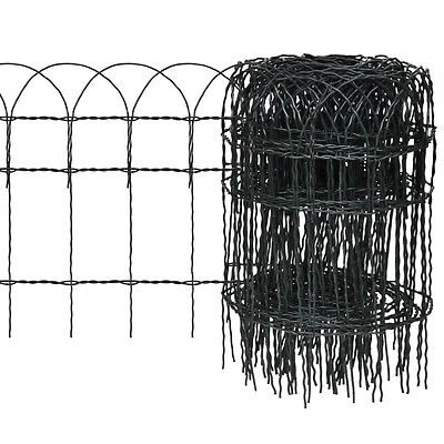 New 10x0.4m Expandable Mesh Fence Garden Edging Border Iron Wire Chain Fencing