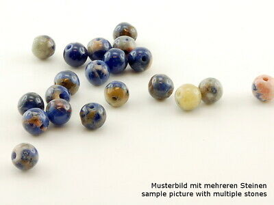 4x Sodalith - Kugel, 6 mm, multicolor /4047s