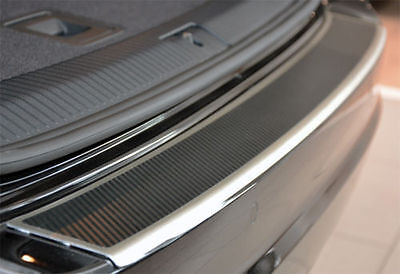 VW CADDY 3 (2K)- Carbon bumper strip with bevel rear protector carboxylic
